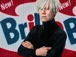 Andy Warhol by Nick Holdsworth -  sized 47x35 inches. Available from Whitewall Galleries